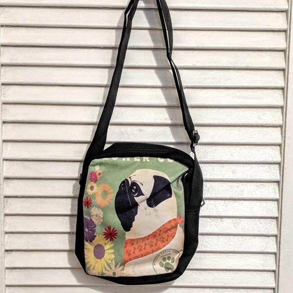 Handbags - Small Zippered Pug Dog Bag NWOT